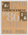 17th Commencement 1986 UMBC 1966-1986