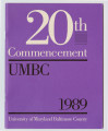 20th Commencement UMBC 1989