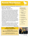 Parent Newsletter (August 2011)