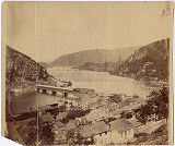 [Harper's Ferry from the hill over the town looking down the Potomac]