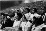 [Little Rock Nine students at auditorium, New York, NY, 1958]